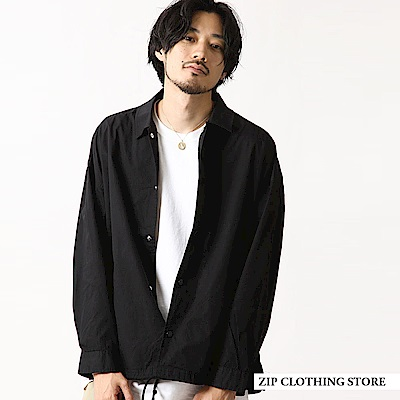 教練夾克外套寬版純棉(8色) ZIP日本男裝
