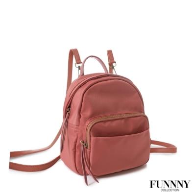 FUNNNY 實用2way尼龍後背包 Yuna 乾燥玫瑰粉