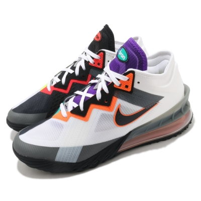 Nike 籃球鞋 Lebron XVIII Low 男鞋 明星款 氣墊 避震 包覆 支撐 運動 白 黑 CV7564100