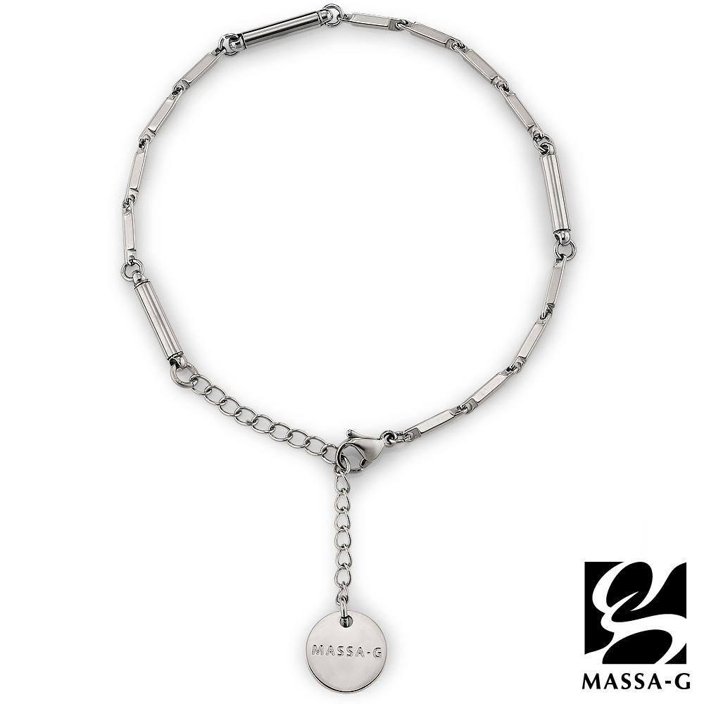 MASSA-G【Simple純粹】磁石能量白鋼腳鍊