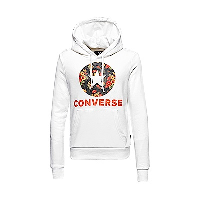 CONVERSE IN BLOOM HOODIE女 連帽上衣 白