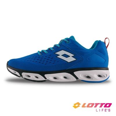 【LOTTO】義大利 男 AIR FLOW 410 風動跑鞋(藍)