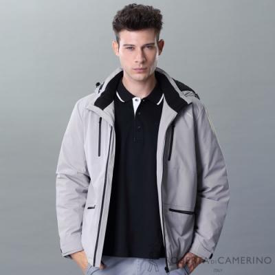 ROBERTA諾貝達 禦寒保暖 羽絨帥氣夾克外套 灰色