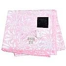 ANNA SUI 繽紛太陽花圖騰優雅蝴蝶字母LOGO刺繡帕領巾(粉紅色)