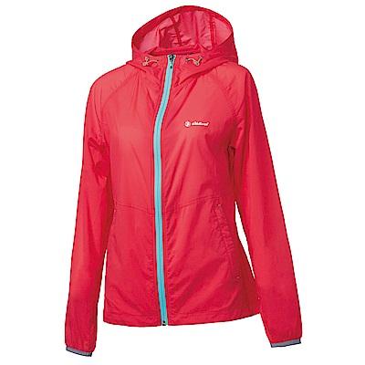 荒野【wildland】女彈性17D輕量透氣外套嫣紅色