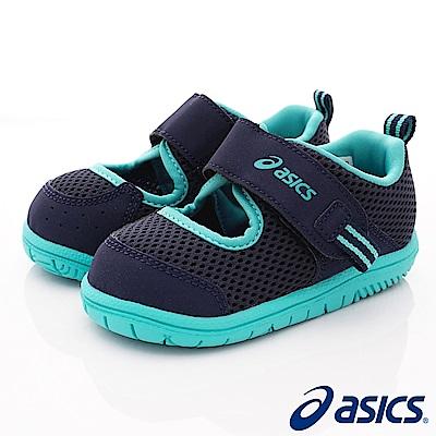 asics競速童鞋 輕量透氣休閒款118-400深藍(小童段)