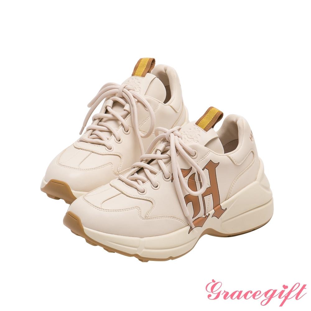 Grace gift-哈利波特赫夫帕夫學院休閒老爹鞋 黃