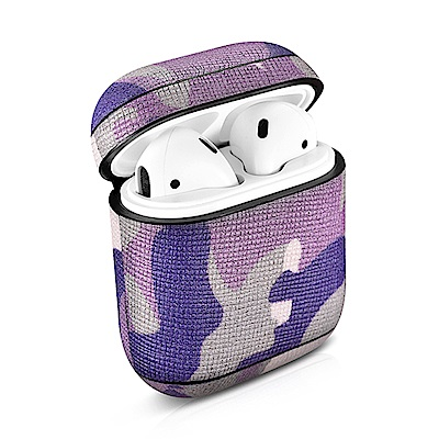 ICARER Apple AirPods 迷彩真皮保護套