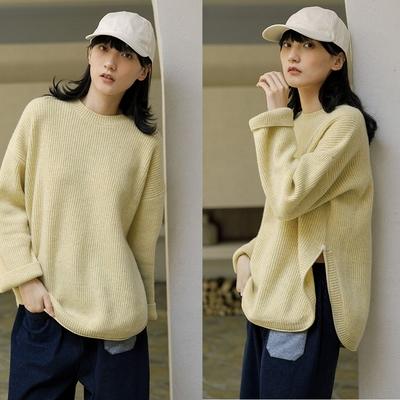 高克重加厚100%澳洲羊毛粗棒針寬鬆毛衣-設計所在