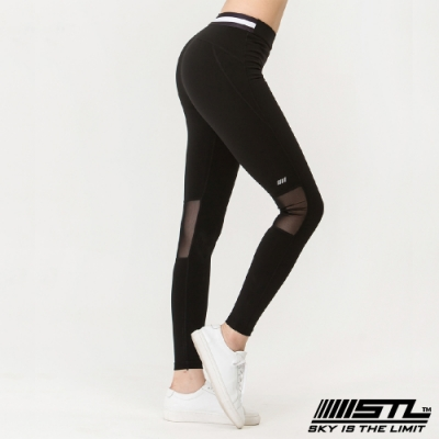 STL yoga legging annaband 9分 韓國瑜珈 中低腰 運動訓練 拉提塑身緊身壓力褲 安娜經典黑
