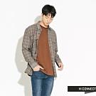 H:CONNECT 韓國品牌 男裝-復古格紋雙口袋襯衫-灰