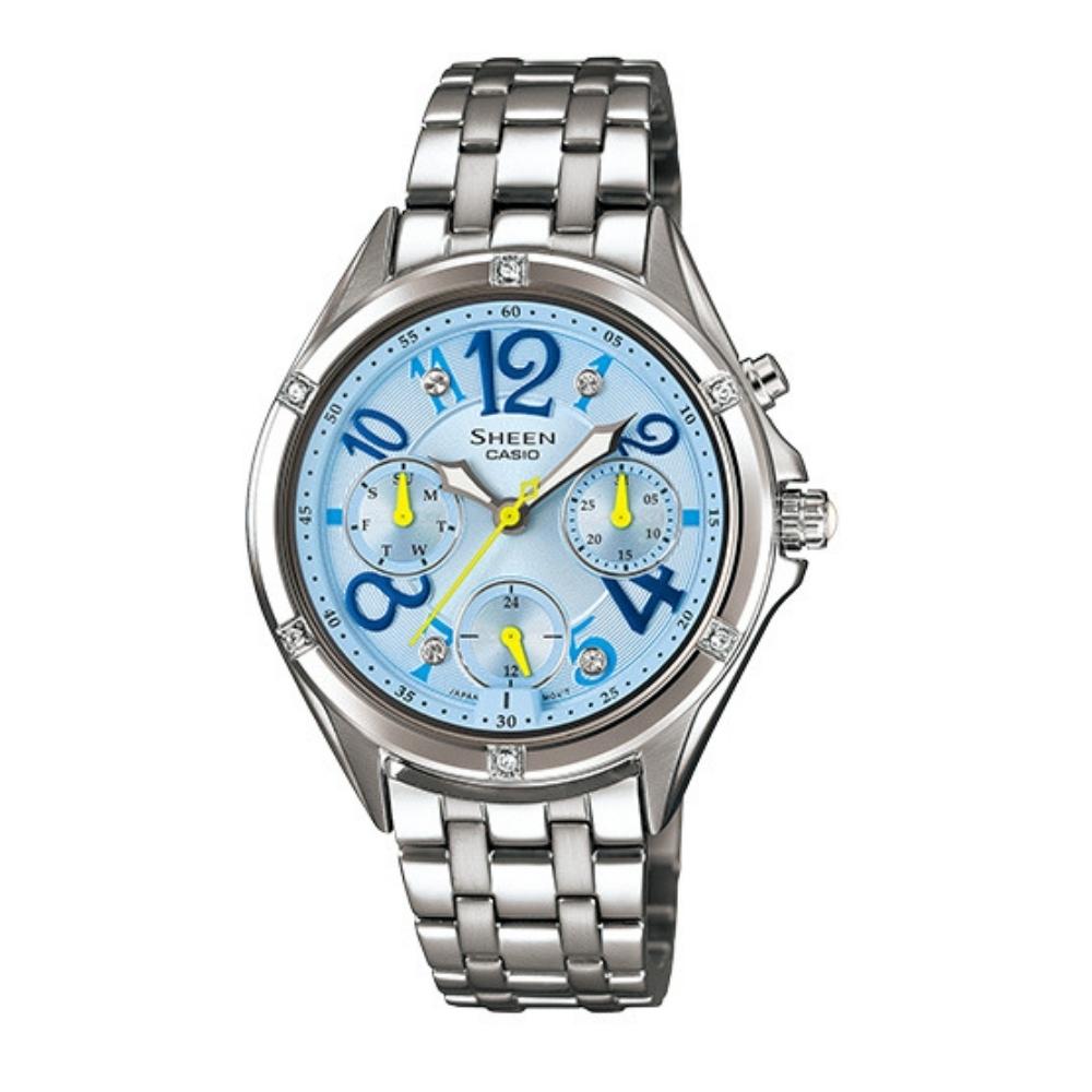 CASIO卡西歐 優雅簡約的三眼設計腕錶(SHE-3031D-2A)