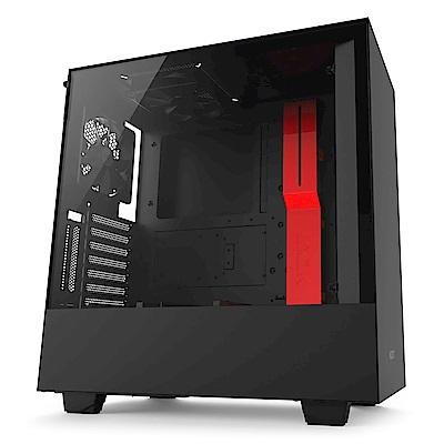 NZXT【H500i】透側 ATX電腦機殼《黑紅》