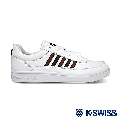 K-SWISS Court Clayton S休閒運動鞋-男-白/咖啡