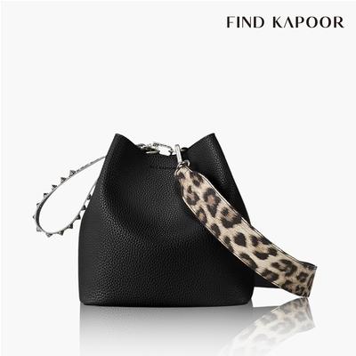 【FIND KAPOOR】PINGO 20 BASIC 豹紋系列水桶包 黑色