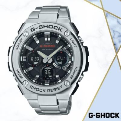 CASIO卡西歐 強悍多功能鐵帶雙顯錶(GST-S110D-1A)/52.4mm