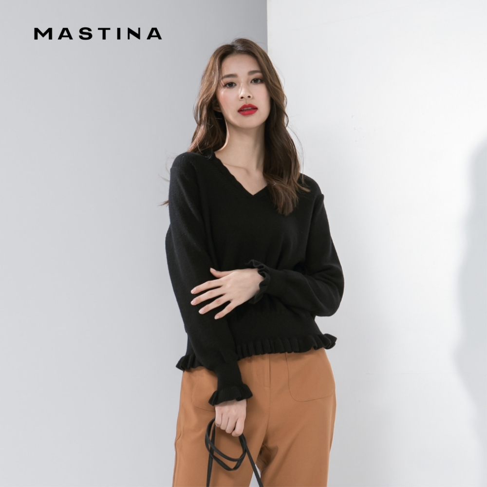 【MASTINA】浪漫荷葉設計-針織衫(四色)