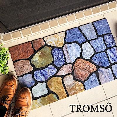 TROMSO戶外植絨橡膠厚實刮泥地墊(大)-摩登大理石