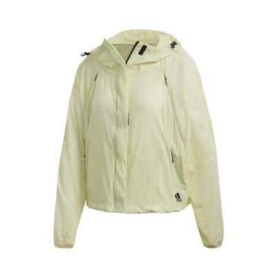 adidas 外套 W.N.D. Jacket 運動休閒 女款 愛迪達 可收納 小體積 外出 輕便 連帽 黃 FL1854