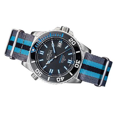 DAVOSA Argonautic 藍色T25氚氣燈管專業潛水錶/軍用帶/42mm