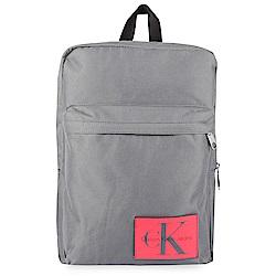 Calvin Klein 經典帆布LOGO後背包-灰色