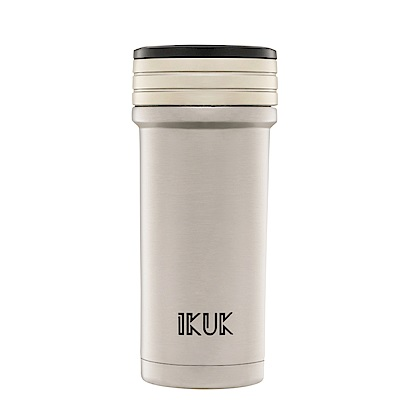 IKUK艾可 陶瓷保溫杯火把款350ml