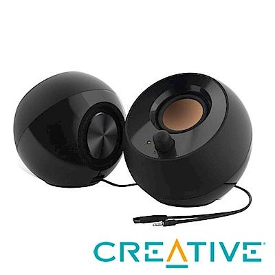[時時樂]CREATIVE Pebble USB 2.0 桌上型喇叭(黑/白)