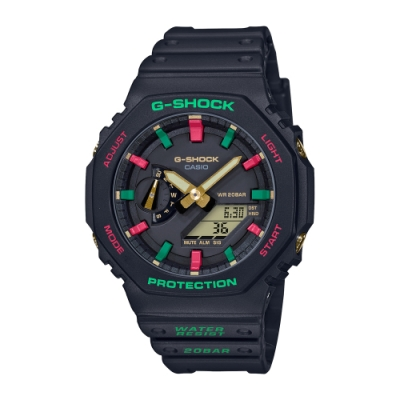 CASIO卡西歐 G-SHOCK 八角型錶殼 GA-2100TH-1A_45.4mm
