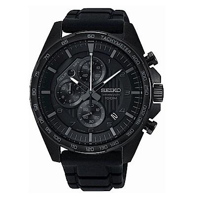 SEIKO CS急速時光三眼計時腕錶/8T67-00H0SD