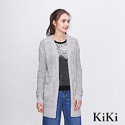 KiKi INLook 素色貼膚針織外套(2色)-灰色