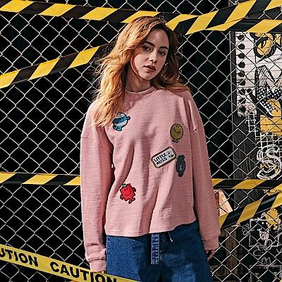 CACO-細摺紋貼布章上衣-(兩色)-女【RMM009】