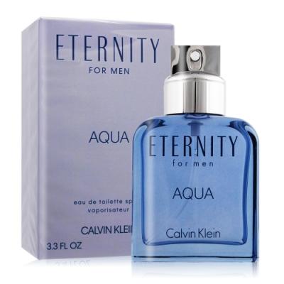 *Calvin Klein CK Eternity AQUA 永恆之水男性淡香水100ml-國際航空版