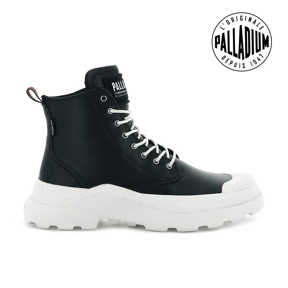 PALLADIUM PALLAKIX MID SK軍種皮革靴-男-黑/白