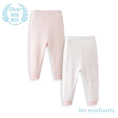 les enphants 精梳棉系列條紋小象兩件組長褲(2色可選)