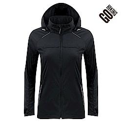 【GOHIKING】女素色彈性吸排防曬外套