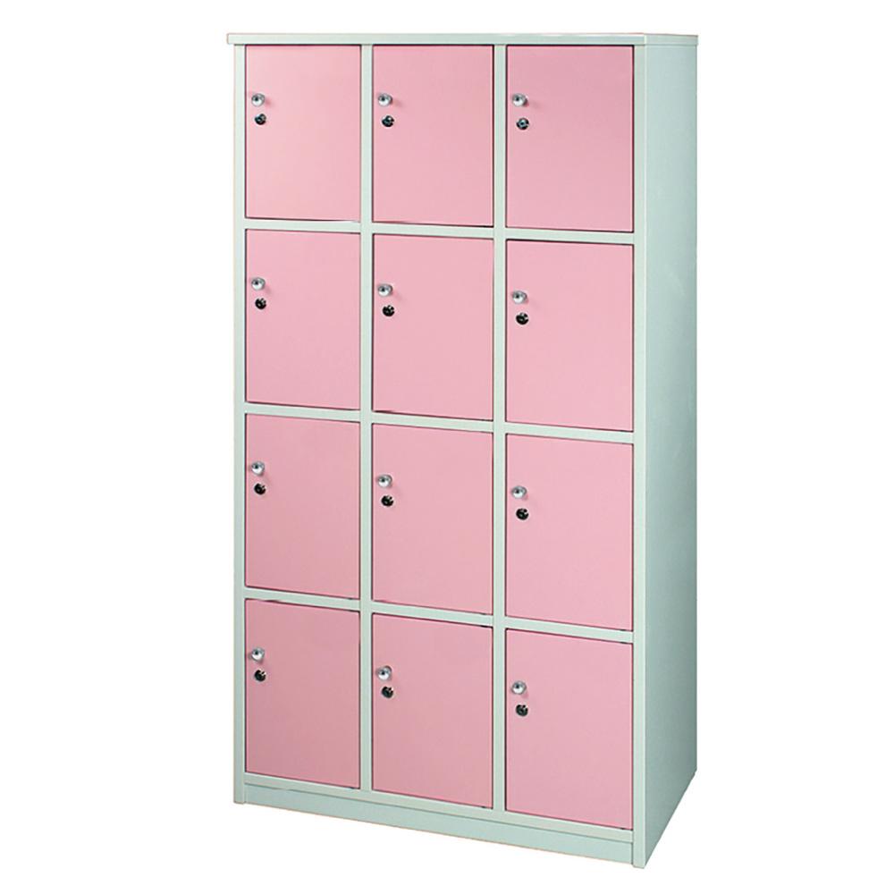 文創集 艾倫環保3.5尺塑鋼12門格置物櫃/收納櫃-105x51x180cm-免組