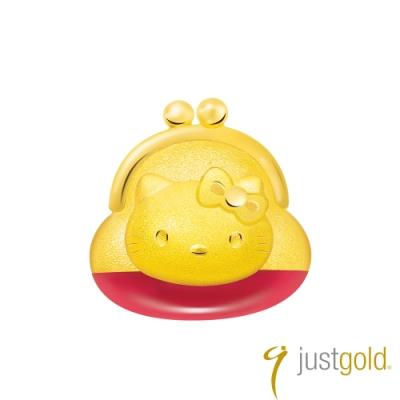 鎮金店Just Gold Hello Kitty 45周年純金系列 黃金單耳耳環-零錢包