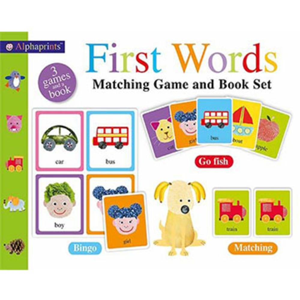 First Words Matching Game and Book Set (美國版)