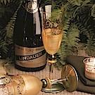 Madiggan 托斯卡尼系列手工彩繪香檳杯(金綠色兩入禮盒)