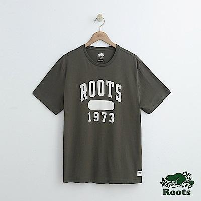 男裝Roots 1973短袖T恤-綠