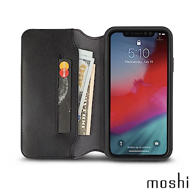 Moshi Overture for iPhone XR 側開卡夾型保護套
