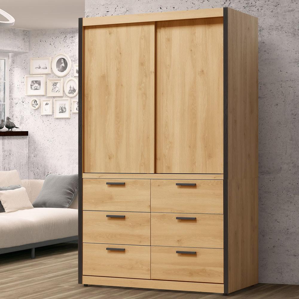 Homelike 東理4x7尺衣櫃-121x60x202cm
