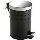 《VERSA》腳踏式垃圾桶(方塊黑3L)
