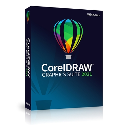 CorelDRAW Graphics Suite 2021 完整版盒裝(中/英)(Windows)