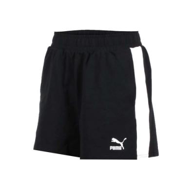 PUMA 女流行系列T7短褲-路跑 慢跑 黑白