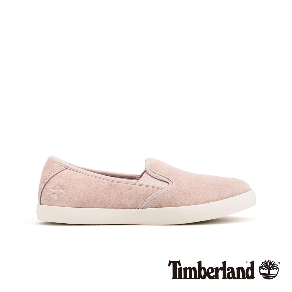 Timberland 女款淺粉色正絨面皮革便鞋|A1VJF