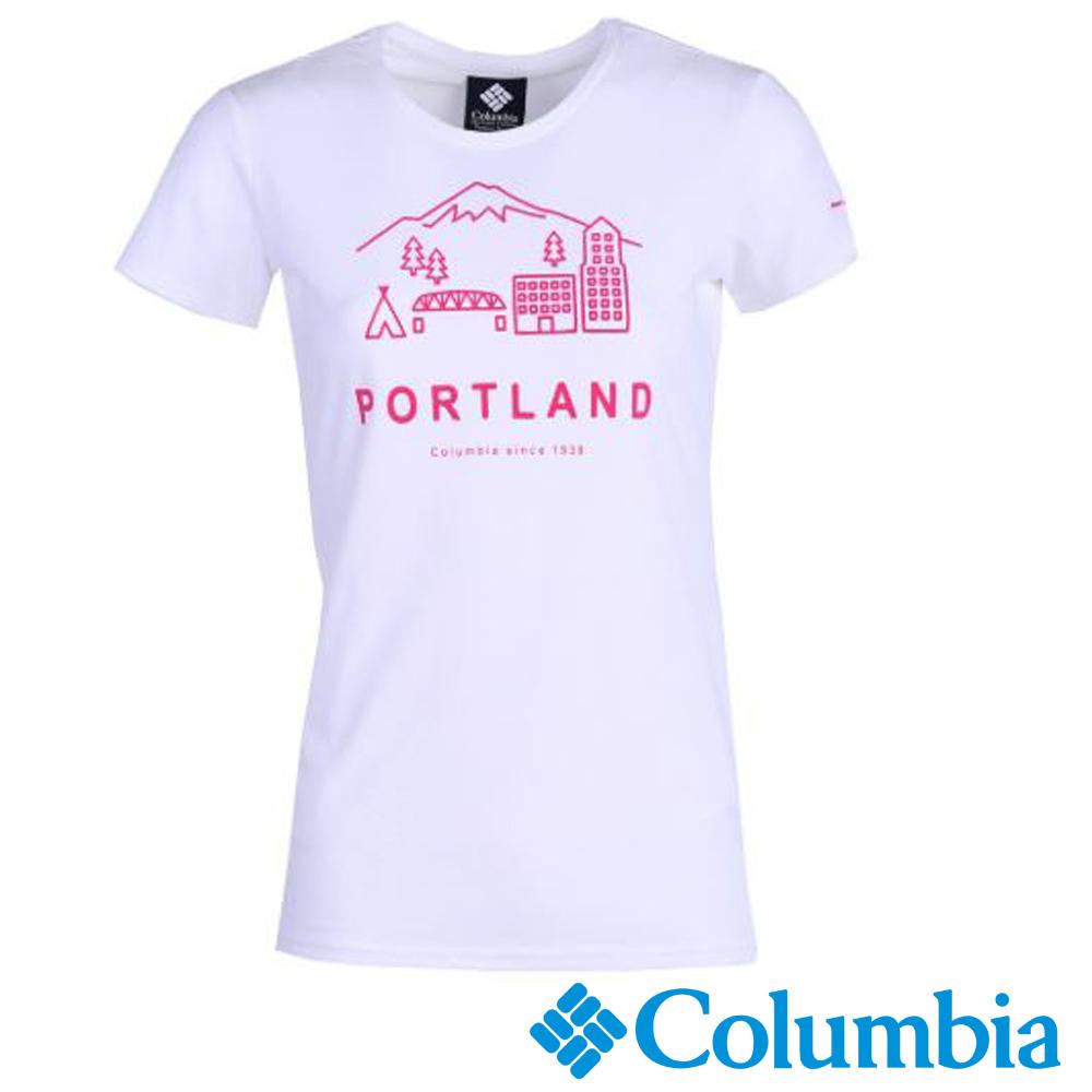 Columbia 哥倫比亞 女-防曬30快排上衣-白色UAR19740WT