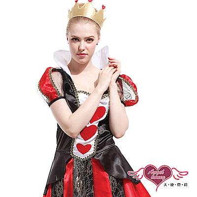 角色扮演 紅心皇后 童話故事派對表演服(黑紅F) AngelHoney天使霓裳