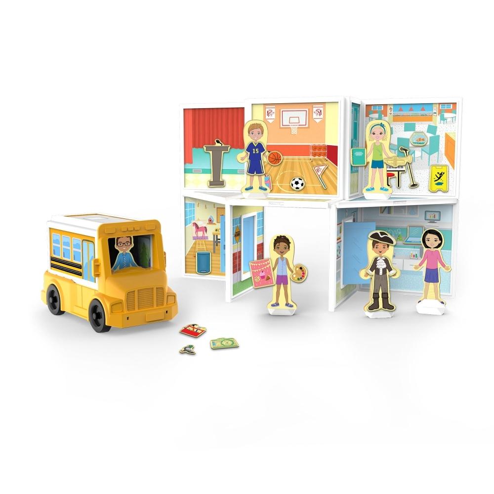 【美國瑪莉莎 Melissa & Doug 】磁力建構娃娃屋 - 學校
