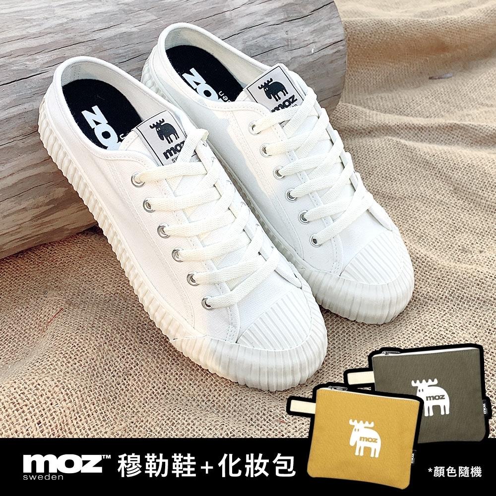 moz瑞典 穆勒拖鞋式餅乾鞋(經典白)